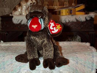 TY beanie baby babies Cheeks Baboon 5-18-1999 Retired Mint with mint tags