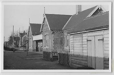 RAILWAY - PINCHBECK STATION LINCOLNSHIRE 1961 - postcard size photo