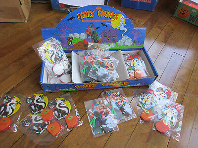 Vintage NOS Russ Honeycomb Pumpkins Party Ghouls Halloween Decorations(t)