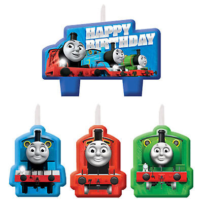 4 Assorted Thomas The Tank Engine All Aboard Party Moulded Birthday Cake Candles