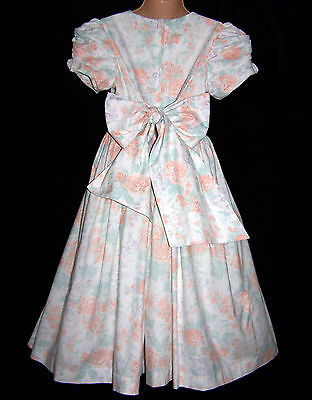 Laura Ashley vintage white soft pastel floral wedding party occasion dress 3-4 Y