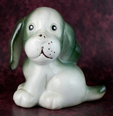 Vintage Ceramic 3 Inch Puppy Dog Figurine