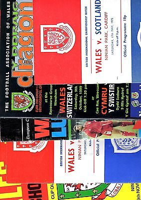5 x WALES HOME PROGRAMMES 1971 - 1999  Listed 2