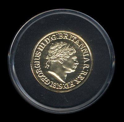 George III 1819 Solid Gold Sovereign Re-Strike Superb