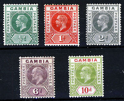 GAMBIA King George V 1912 to 1922 A Keyplate Group SG 94 to SG 116 MINT