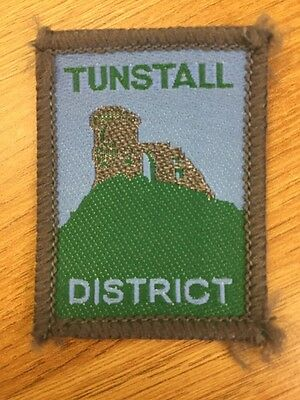 Tunstall District UK Scout cloth badge