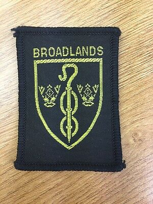Broadlands District UK Scout cloth badge