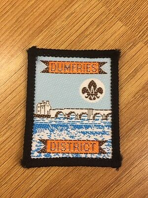 Dumfries District UK Scout cloth badge