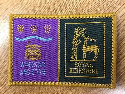 Windsor District / Berkshire County double Scout cloth badge