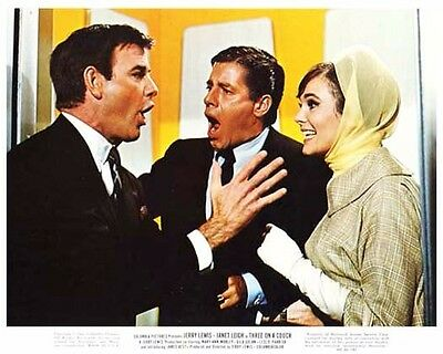 THREE ON A COUCH color still JERRY LEWIS & GILA GOLAN -- (n924)