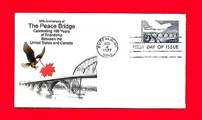 #1721 Peace Bridge 50 Anniversary Fdc 100 Years Friendship Usa Canada