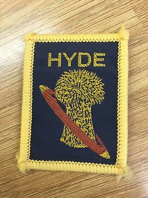 Hyde District UK Scout cloth badge