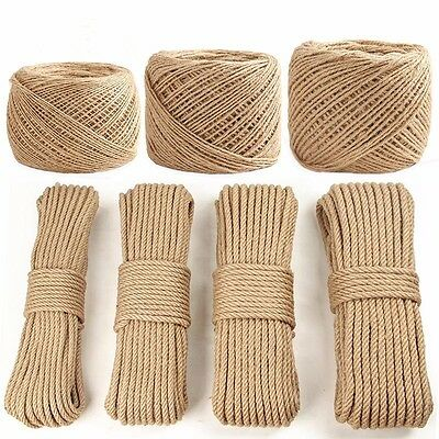 Wedding Party Decor Natural Jute Hessian Burlap Rustic Twine Sisal String Cord