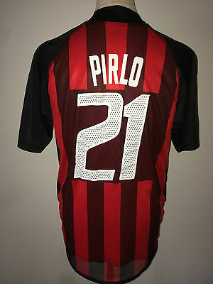Pirlo AC Milan match worn issued shirt Champions League 02/03 Italy Juventus