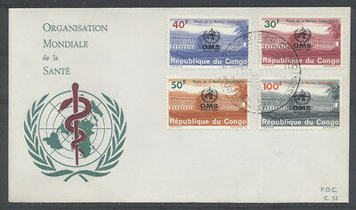 Congo Belge Fdc 52 - Oms - 1966 Luxe