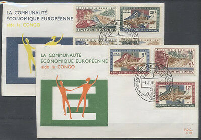 CONGO BELGE FDC 20-20a - COMMUNAUTE ECONOMIQUE EUROPEENNE - 1963 LUXE