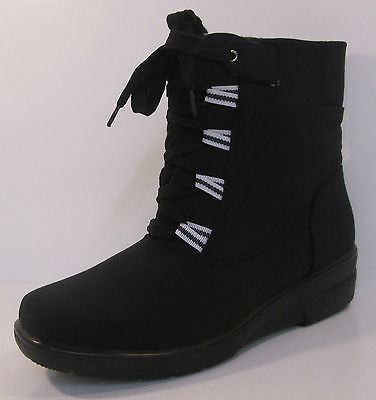 SALE Ladies F50335 Black synthetic//textile knee high boot by Spot On £15.00