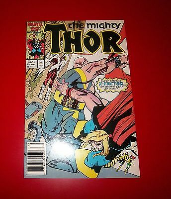 The Mighty Thor #374 Fires Of The Night! With X-Factor 1986 Great Condition