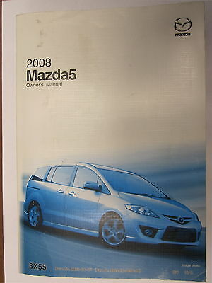 2008 Mazda 5 Owners Owner's Manual English/french Usa Canada Mr Remotes