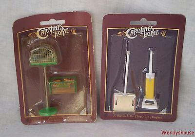 Vintage Carolines Home Dolls House Hoovers/fish Tank/bird Cage Free Uk P&p