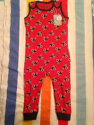 New tagged Frugi Kneepatch Dungarees - Tractor - 18 to 24 Months