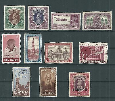 India 1937-1953 Complete Fresh Mint Collection .
