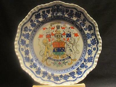 """Mason's 1930s Dominion of Canada 10.75"""" Plate with Coat of Arms"""