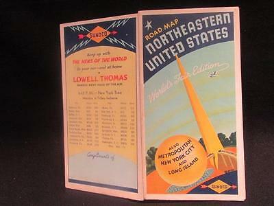Sun Oil Co Sunoco Worlds Fair Edit. Rand McNally Road Map Northern United States