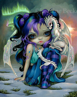 Jasmine Becket-Griffith Art Open Edition 12x16 CANVAS PRINT COA Frost Dragonling