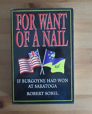 book REVOLUTIONARY WAR ALTERNATIVE HISTORY SARATOGA BATTLE robert sobel