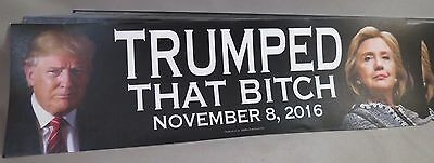 Wholesale Lot Of 20 Trumped That Bitch Stickers Trump Anti Hillary 11.08.16 Usa