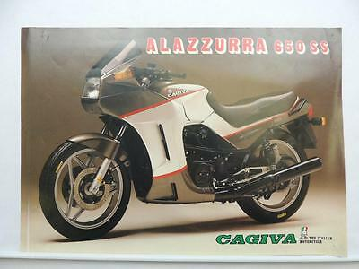 Vintage Cagiva Alazzurra 650 SS Motorcycle Brochure Specifications L6895