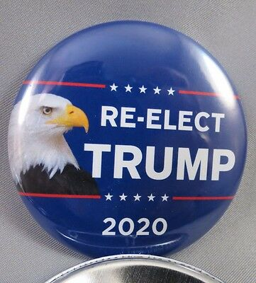 Wholesale Lot Of 12 Re-Elect Trump 2020  Buttons Eagle President Usa Donald 45Th