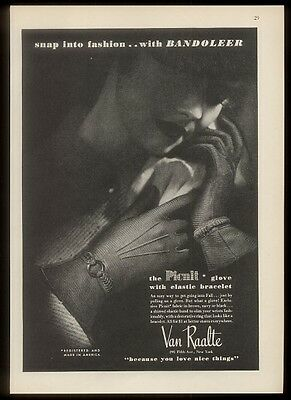 1935 Van Raalte Picnit women's gloves photo vintage fashion print ad