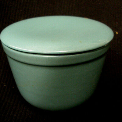 """Mid-Century Oxford Ware Universal Pottery Mixing Bowl With Lid Turquoise Blue 5"""""""