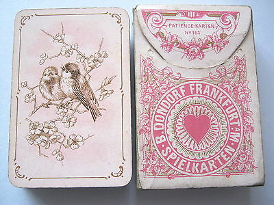 DONDORF NO INDICE No 163 FOR LADIES PATIENCE GILDED ANTIQUE PLAYING CARDS 1890s