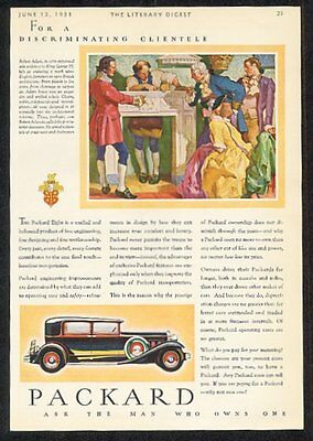 1931 Packard Eight black and red car vintage print ad
