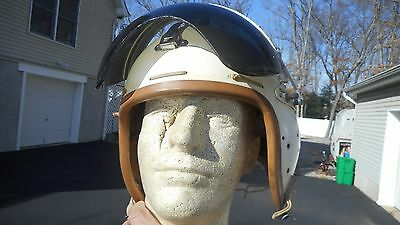 USAF P-4B flight helmet 1950's size large very nice condition custom painted