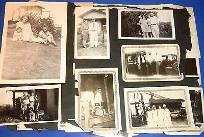 Lot Very Old Unknown Family Photos / Photographs / Pictures fm Destroyed Album