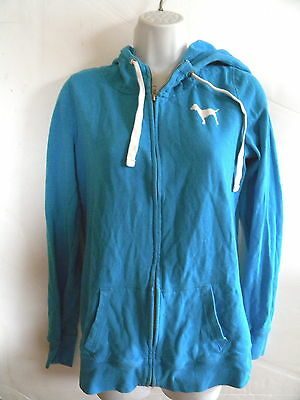 Pink By Victoria Secret Blue Zip Hoodie  Womens Size Small