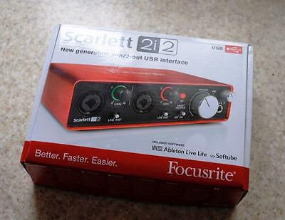 Focusrite Scarlett 2i2 audio interface - Excellent condition, boxed