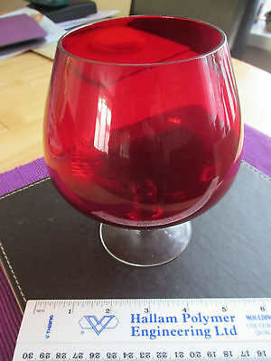 Large Red Glass 1970's???? Decorative