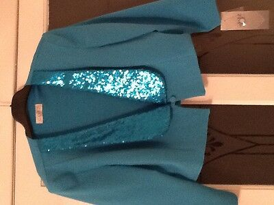 Turquoise mother of the bride outfit size 20