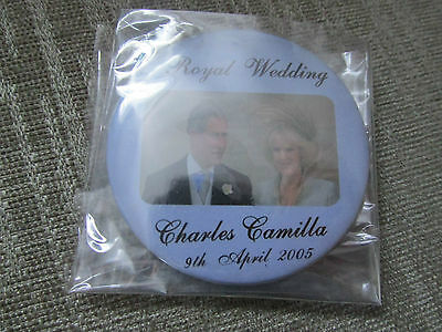 Charles And Camilla Royal Wedding 2005 Badge - Excellent Condition