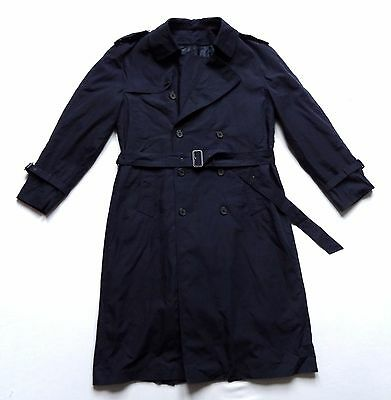 "Men's Vintage 80's Trenchcoat / Mac Retro Large 44"" Chest"