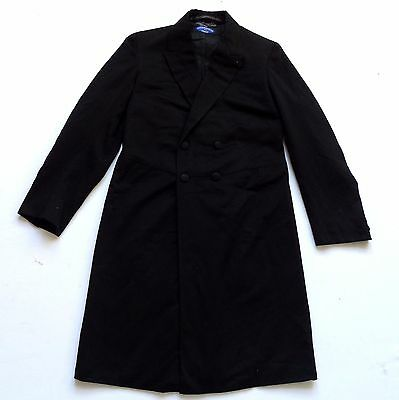 "Men's Vintage 50's Wool Morning Coat Retro Goth 34"" Chest"