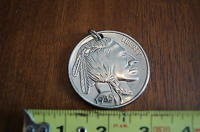 Oversized Buffalo Nickel Key or Watch Fob