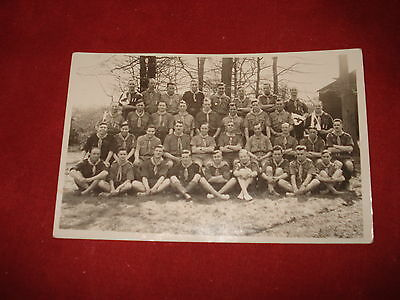 UNKNOWN PEOPLE: Group of Scouts RP b&w DOWNE KENT 1934