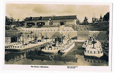 Beaconsfield - Bekonsot Model Village ' The Docks ' Real Photo C1955