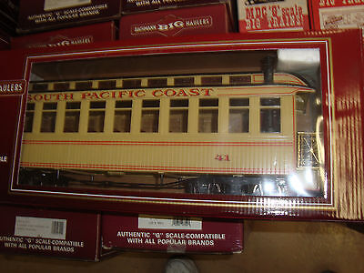 Bachmann 89194 G Scale South Pacific Coast Obs Car With Track Powered Lighting